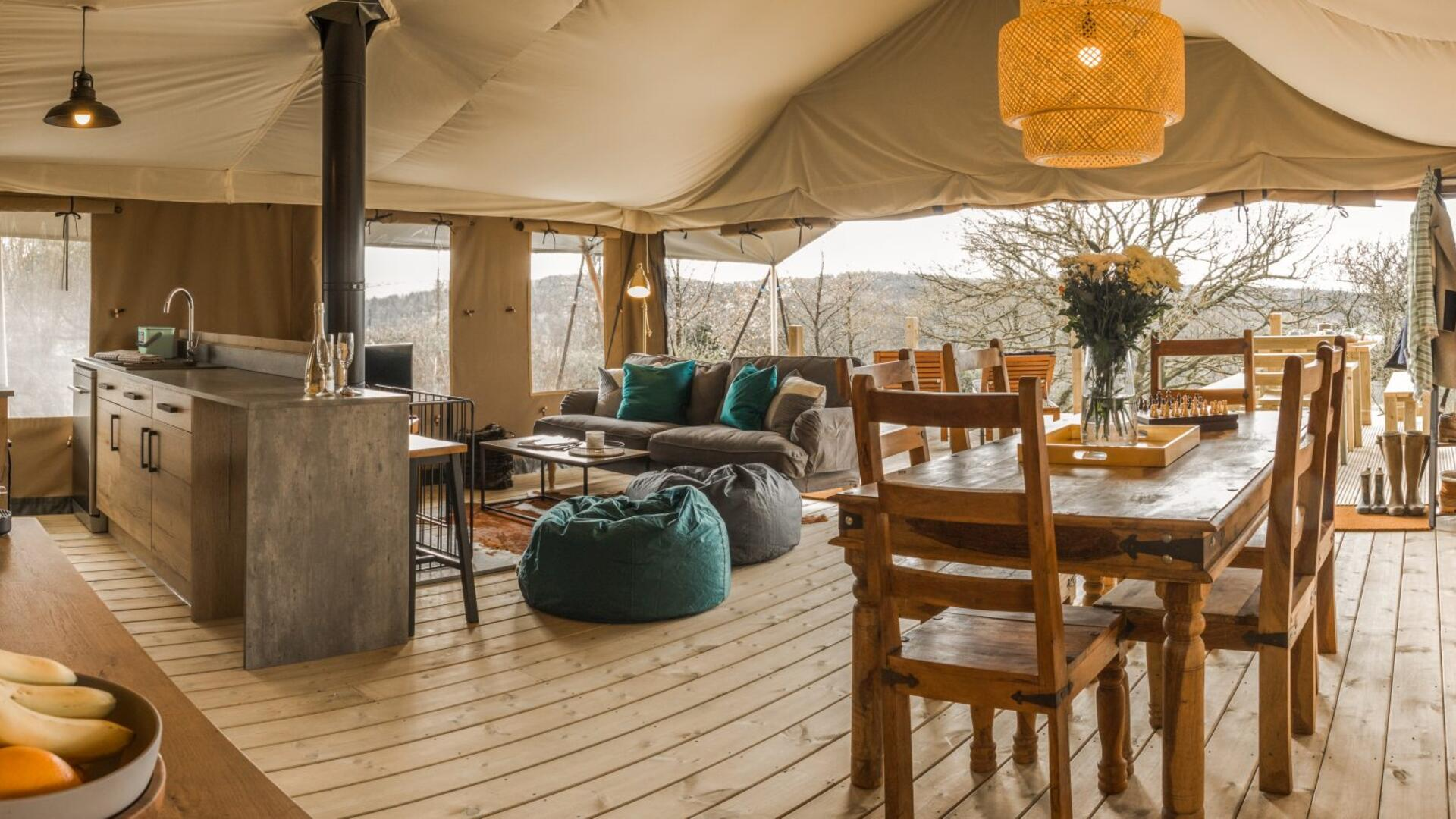 Luxurious Glamping in central Cornwall
